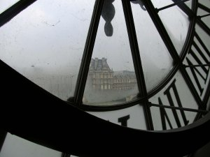 paris through orsay clock